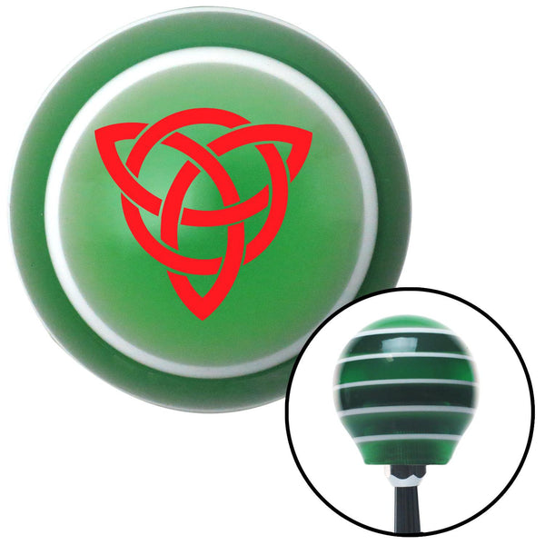 Red Celtic Design 2 Green Stripe Shift Knob with M16 x 15 Insert - American Shifter - Dropship Direct Wholesale