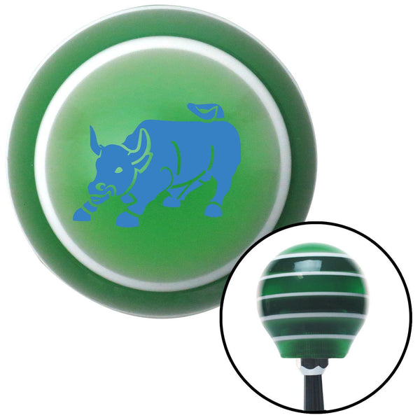 Blue Bull Green Stripe Shift Knob with M16 x 15 Insert - American Shifter - Dropship Direct Wholesale