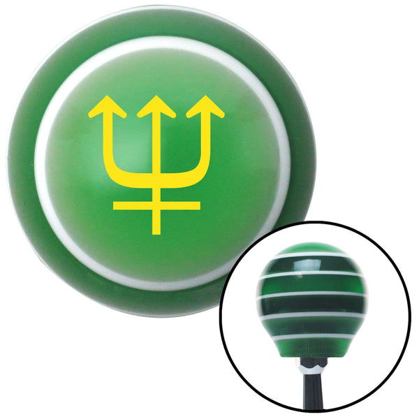 Yellow Neptune Green Stripe Shift Knob with M16 x 15 Insert - American Shifter - Dropship Direct Wholesale