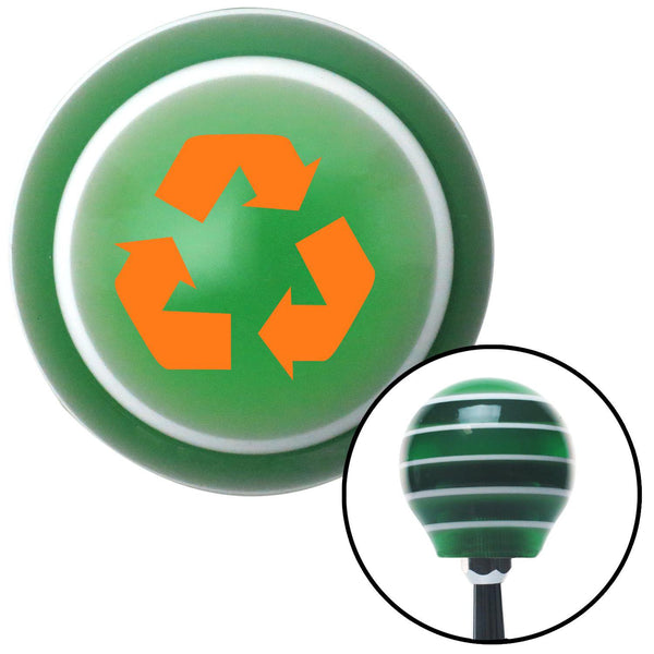 Orange Recycle Green Stripe Shift Knob with M16 x 15 Insert - American Shifter - Dropship Direct Wholesale