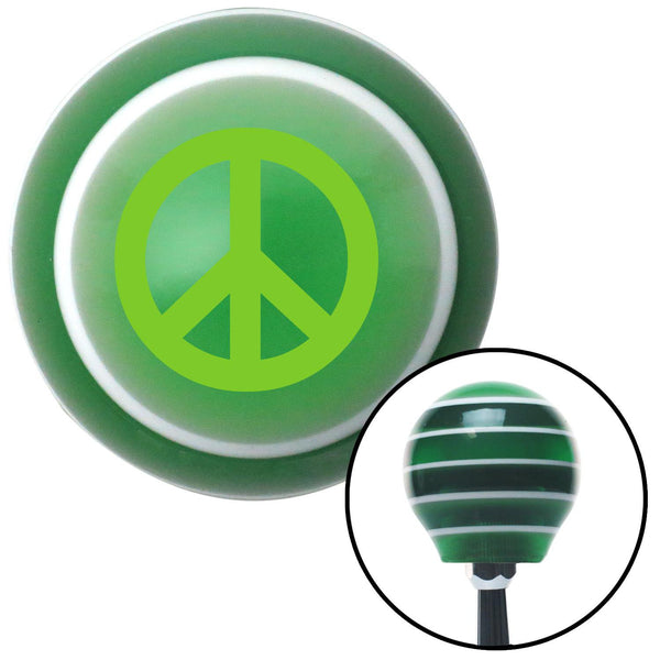 Green Peace Sign Green Stripe Shift Knob with M16 x 15 Insert - American Shifter - Dropship Direct Wholesale