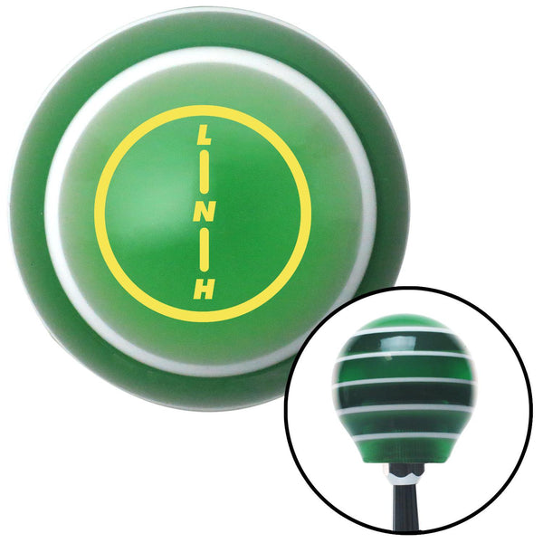 Yellow Transfer Case 2 Green Stripe Shift Knob with M16 x 15 Insert - American Shifter - Dropship Direct Wholesale