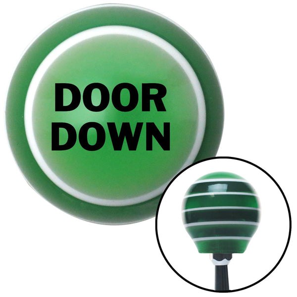 Black Door Down Green Stripe Shift Knob with M16 x 15 Insert - American Shifter - Dropship Direct Wholesale