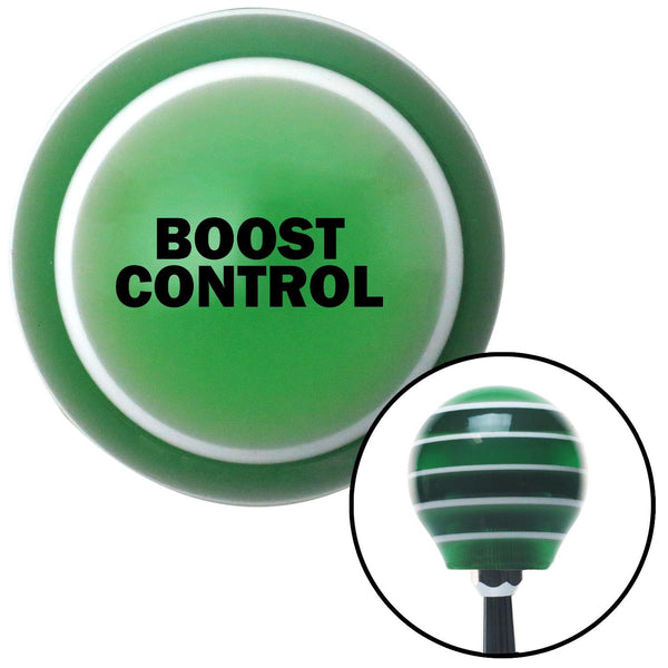 Black BOOST CONTROL Green Stripe Shift Knob with M16 x 15 Insert - American Shifter - Dropship Direct Wholesale