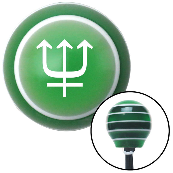 White Neptune Green Stripe Shift Knob with M16 x 15 Insert - American Shifter - Dropship Direct Wholesale