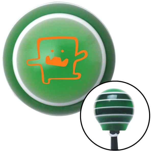 Orange Domo Dancing Green Stripe Shift Knob with M16 x 15 Insert - American Shifter - Dropship Direct Wholesale