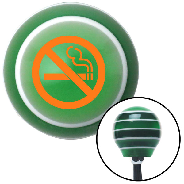 Orange No Smoking Green Stripe Shift Knob with M16 x 15 Insert - American Shifter - Dropship Direct Wholesale