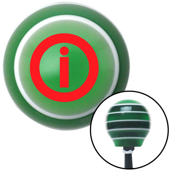 Red Info Green Stripe Shift Knob with M16 x 15 Insert - American Shifter - Dropship Direct Wholesale