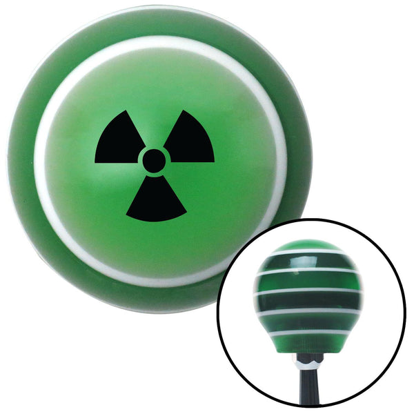 Black Radioactive Green Stripe Shift Knob with M16 x 15 Insert - American Shifter - Dropship Direct Wholesale