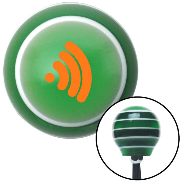 Orange Wireless Green Stripe Shift Knob with M16 x 15 Insert - American Shifter - Dropship Direct Wholesale