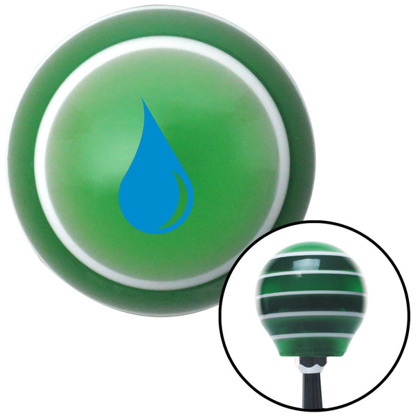 Blue Drip Green Stripe Shift Knob with M16 x 15 Insert - American Shifter - Dropship Direct Wholesale