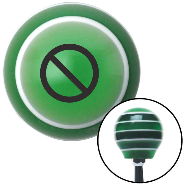 Black None Green Stripe Shift Knob with M16 x 15 Insert - American Shifter - Dropship Direct Wholesale