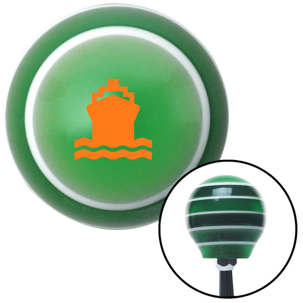 Orange Cruise Ship Green Stripe Shift Knob with M16 x 15 Insert - American Shifter - Dropship Direct Wholesale