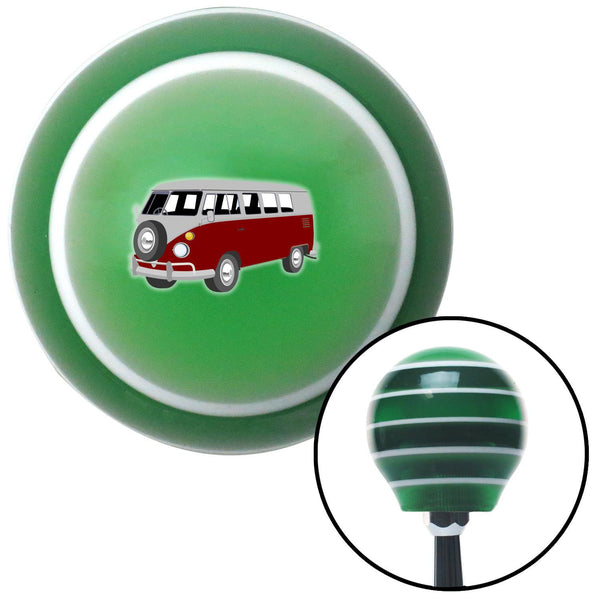 Red Camper Green Stripe Shift Knob with M16 x 15 Insert - American Shifter - Dropship Direct Wholesale