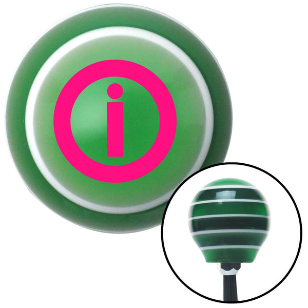 Pink Info Green Stripe Shift Knob with M16 x 15 Insert - American Shifter - Dropship Direct Wholesale
