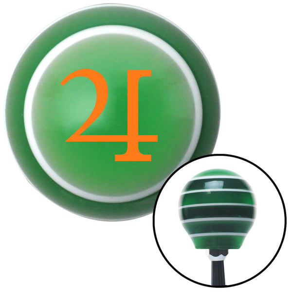 Orange Jupiter Green Stripe Shift Knob with M16 x 15 Insert - American Shifter - Dropship Direct Wholesale