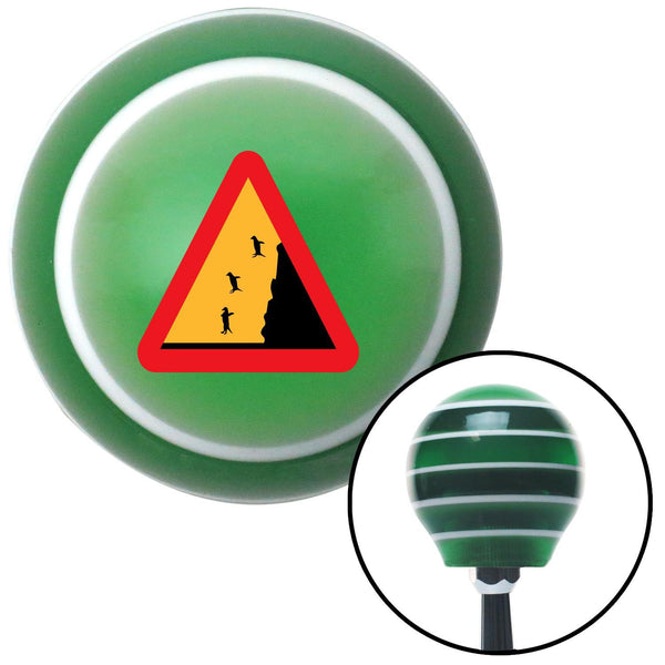 Penguins Crossing Green Stripe Shift Knob with M16 x 15 Insert - American Shifter - Dropship Direct Wholesale