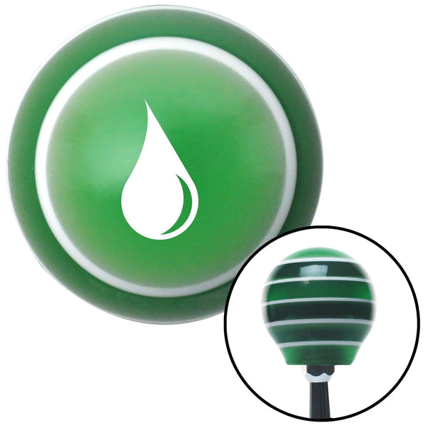 White Drip Green Stripe Shift Knob with M16 x 15 Insert - American Shifter - Dropship Direct Wholesale