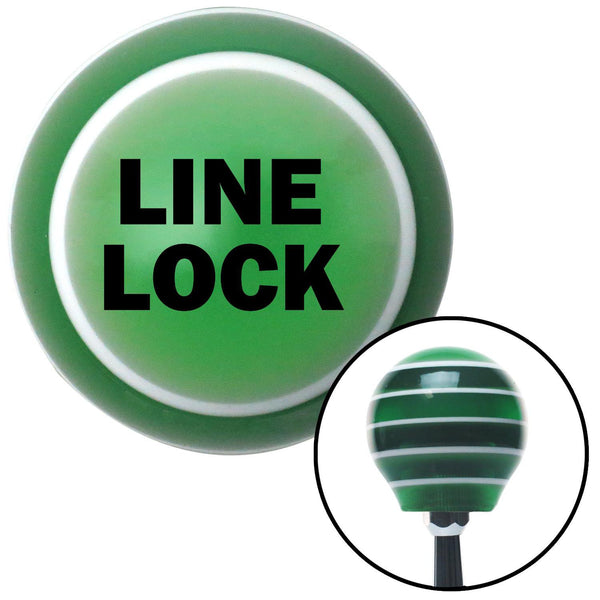 Black LINE LOCK Green Stripe Shift Knob with M16 x 15 Insert - American Shifter - Dropship Direct Wholesale