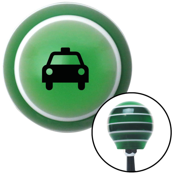 Black Taxi Green Stripe Shift Knob with M16 x 15 Insert - American Shifter - Dropship Direct Wholesale