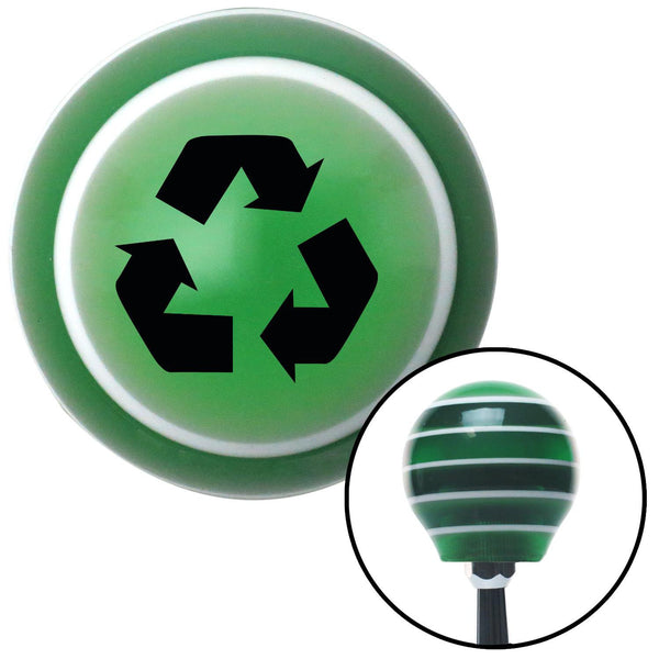Black Recycle Green Stripe Shift Knob with M16 x 15 Insert - American Shifter - Dropship Direct Wholesale
