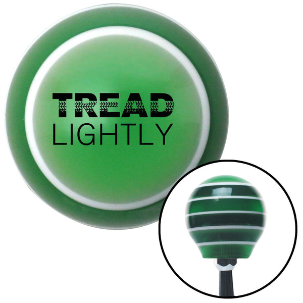 Black Tread Lightly Green Stripe Shift Knob with M16 x 15 Insert - American Shifter - Dropship Direct Wholesale