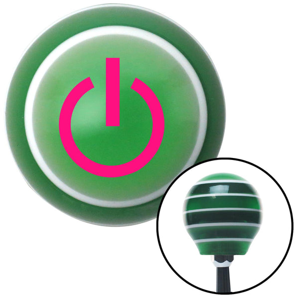 Pink Power Green Stripe Shift Knob with M16 x 15 Insert - American Shifter - Dropship Direct Wholesale