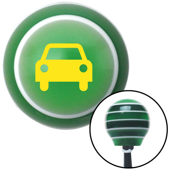 Yellow Car Green Stripe Shift Knob with M16 x 15 Insert - American Shifter - Dropship Direct Wholesale