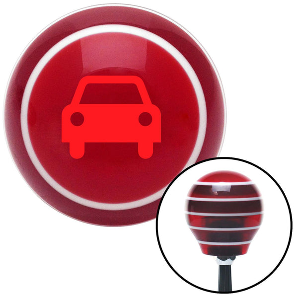 Red Car Red Stripe Shift Knob with M16 x 15 Insert - American Shifter - Dropship Direct Wholesale