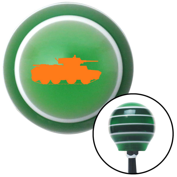 Orange Military Tank Green Stripe Shift Knob with M16 x 15 Insert - American Shifter - Dropship Direct Wholesale