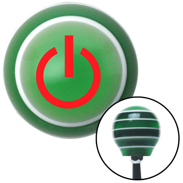 Red Power Green Stripe Shift Knob with M16 x 15 Insert - American Shifter - Dropship Direct Wholesale