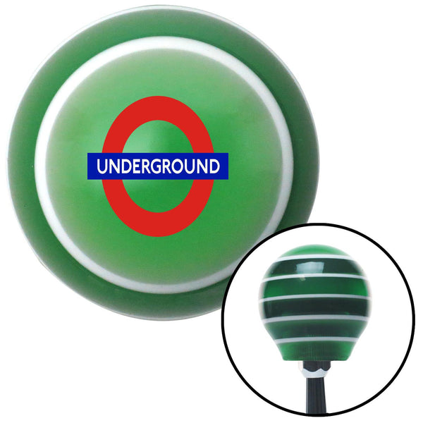London Underground Green Stripe Shift Knob with M16 x 15 Insert - American Shifter - Dropship Direct Wholesale