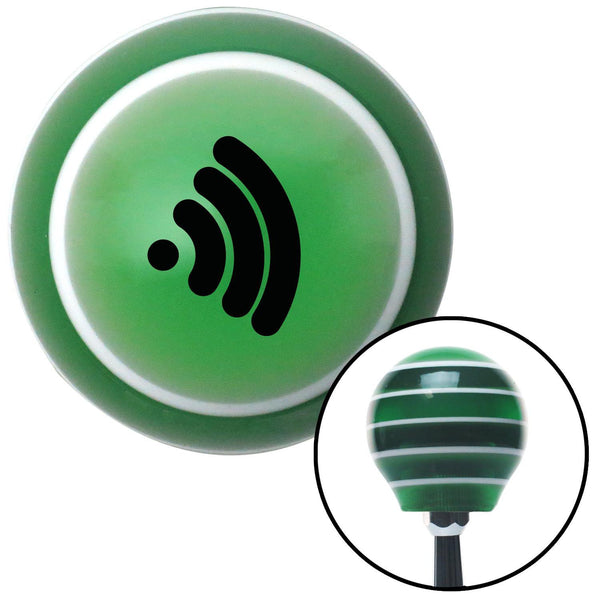 Black Wireless Green Stripe Shift Knob with M16 x 15 Insert - American Shifter - Dropship Direct Wholesale