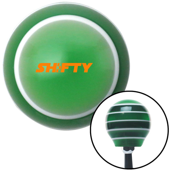 Orange Shifty Green Stripe Shift Knob with M16 x 15 Insert - American Shifter - Dropship Direct Wholesale