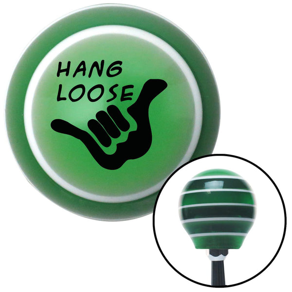 Black Hang Loose Green Stripe Shift Knob with M16 x 15 Insert - American Shifter - Dropship Direct Wholesale