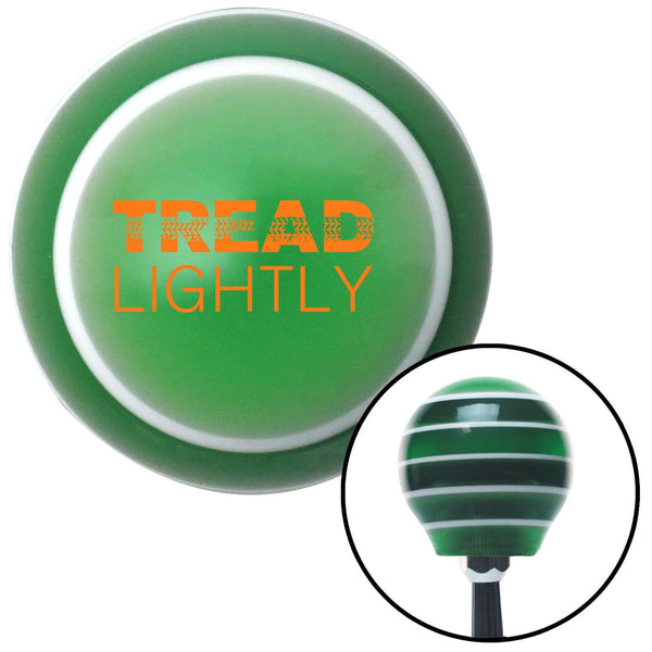Orange Tread Lightly Green Stripe Shift Knob with M16 x 15 Insert - American Shifter - Dropship Direct Wholesale