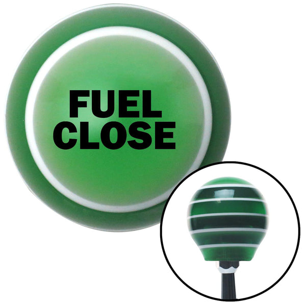 Black FUEL CLOSE Green Stripe Shift Knob with M16 x 15 Insert - American Shifter - Dropship Direct Wholesale