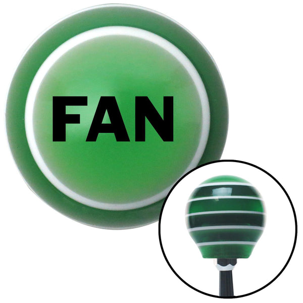 Black Fan Green Stripe Shift Knob with M16 x 15 Insert - American Shifter - Dropship Direct Wholesale