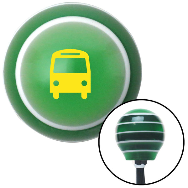 Yellow Bus Green Stripe Shift Knob with M16 x 15 Insert - American Shifter - Dropship Direct Wholesale