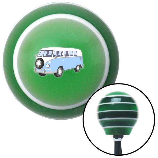 Baby Blue Camper Green Stripe Shift Knob with M16 x 15 Insert - American Shifter - Dropship Direct Wholesale