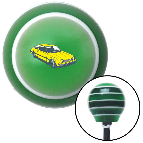 Hatchback Yellow Green Stripe Shift Knob with M16 x 15 Insert - American Shifter - Dropship Direct Wholesale