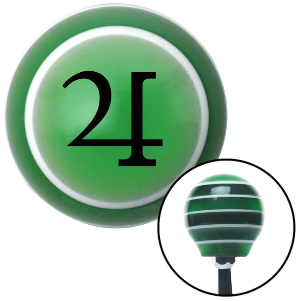 Black Jupiter Green Stripe Shift Knob with M16 x 15 Insert - American Shifter - Dropship Direct Wholesale