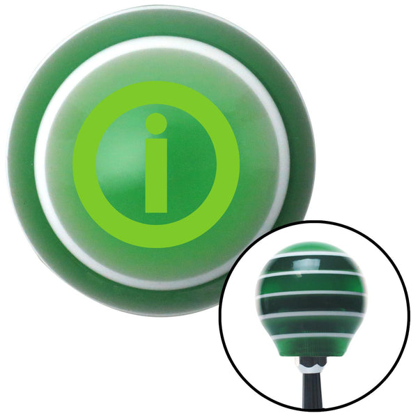Green Info Green Stripe Shift Knob with M16 x 15 Insert - American Shifter - Dropship Direct Wholesale