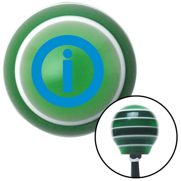 Blue Info Green Stripe Shift Knob with M16 x 15 Insert - American Shifter - Dropship Direct Wholesale