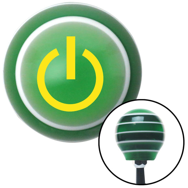 Yellow Power Green Stripe Shift Knob with M16 x 15 Insert - American Shifter - Dropship Direct Wholesale