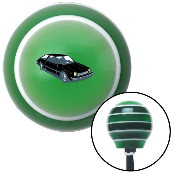 Hatchback Black Green Stripe Shift Knob with M16 x 15 Insert - American Shifter - Dropship Direct Wholesale