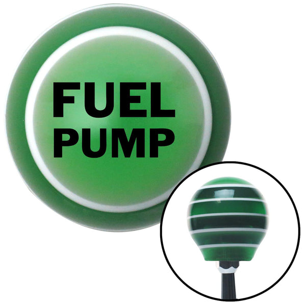 Black Fuel Pump Green Stripe Shift Knob with M16 x 15 Insert - American Shifter - Dropship Direct Wholesale
