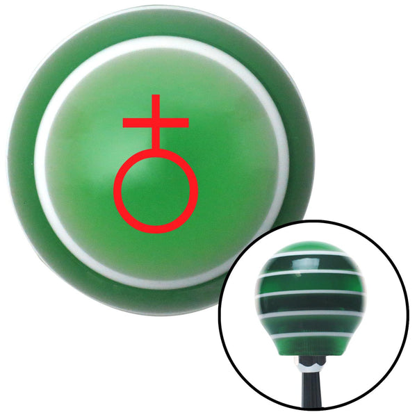 Red Earth Green Stripe Shift Knob with M16 x 15 Insert - American Shifter - Dropship Direct Wholesale