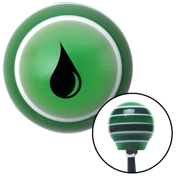 Black Drip Green Stripe Shift Knob with M16 x 15 Insert - American Shifter - Dropship Direct Wholesale