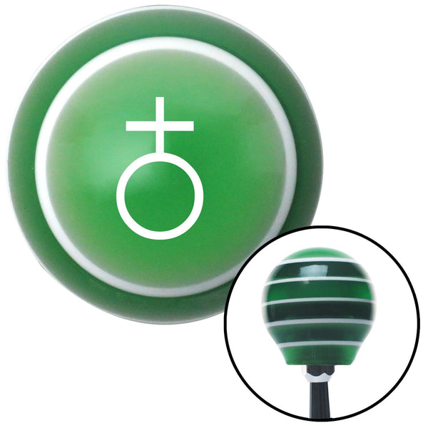 White Earth Green Stripe Shift Knob with M16 x 15 Insert - American Shifter - Dropship Direct Wholesale